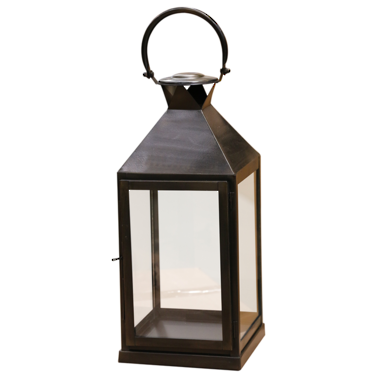Steel Square Lantern in Black Finish