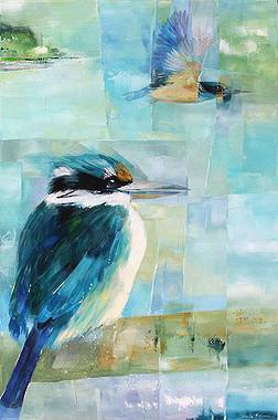 Sheila Brown Art - Colourful Kingfishers