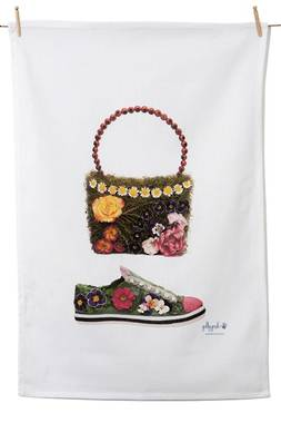 Tea Towel - Daisy Chain Bag & Pansy Shoe
