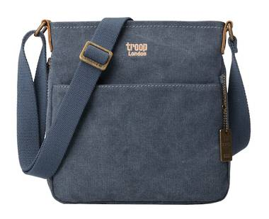 Classic Small Zip Top Shoulder Bag - Blue