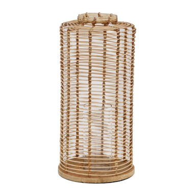 Bermuda Wicker Lantern - Medium