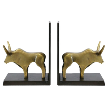 Bull Bookends
