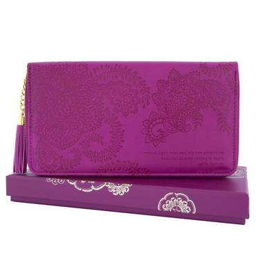 Travel Clutch - Plum Cherry