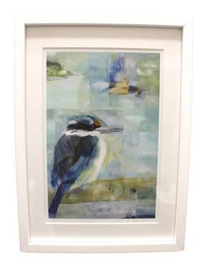 Sheila Brown Art - Colourful Kingfishers