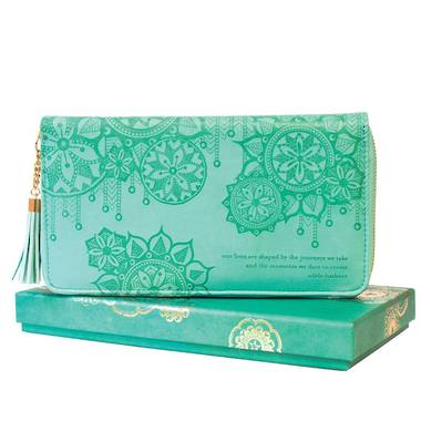 Travel Clutch - Tahitian Turquoise