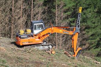 Excavator Mounted Yarder System