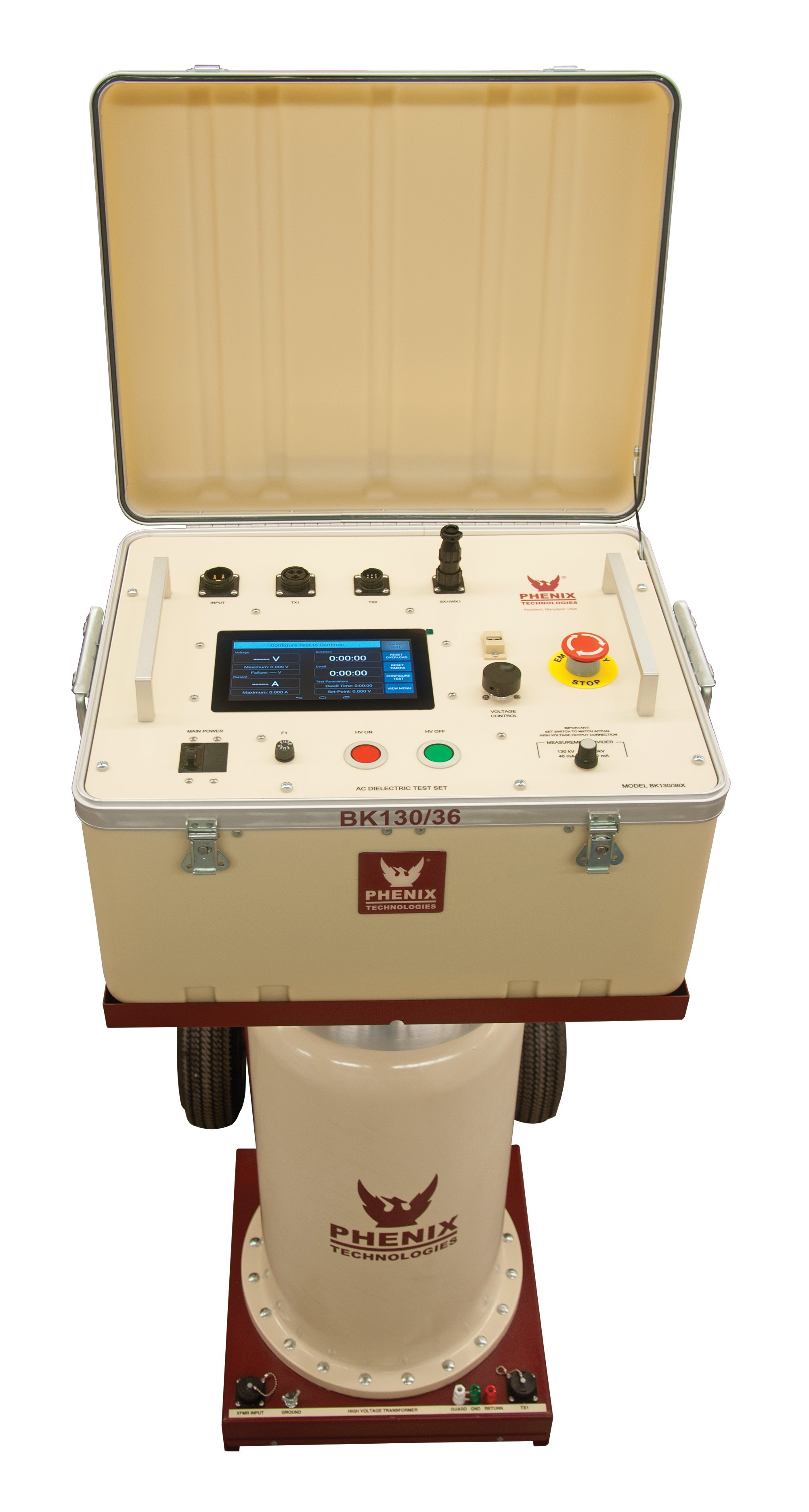 Phenix BK series 36kV to 300kV AC Hipot Test Set - Hipot Test Equipment -  T&M Products - Pro-Test Instruments Ltd