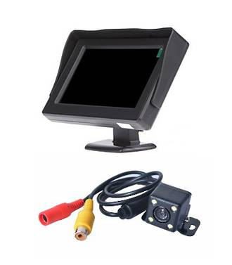 "REVERSING CAMERA WITH 4.3"" SCREEN 12/24 VOLT - RC01"
