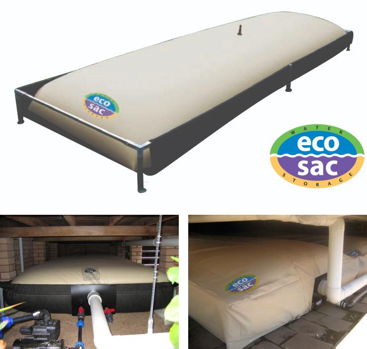 """Eco-Sac Bladder Tanks """"Hidden Water Storage"""""""