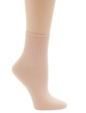 BG022 - One Size Ribbed Ballet Socks
