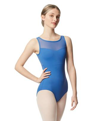 LUB350 - Women's Mesh Yoke Tank Leotard