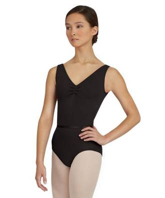 TC0045 - Adults V-Neck Pinch Front Leotard
