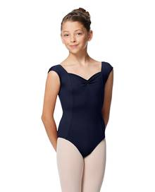 LUB340C - Girls Princess Seam Cap Sleeve Leotard