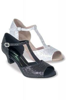 BL33 - Low Heel Sparkly T-bar