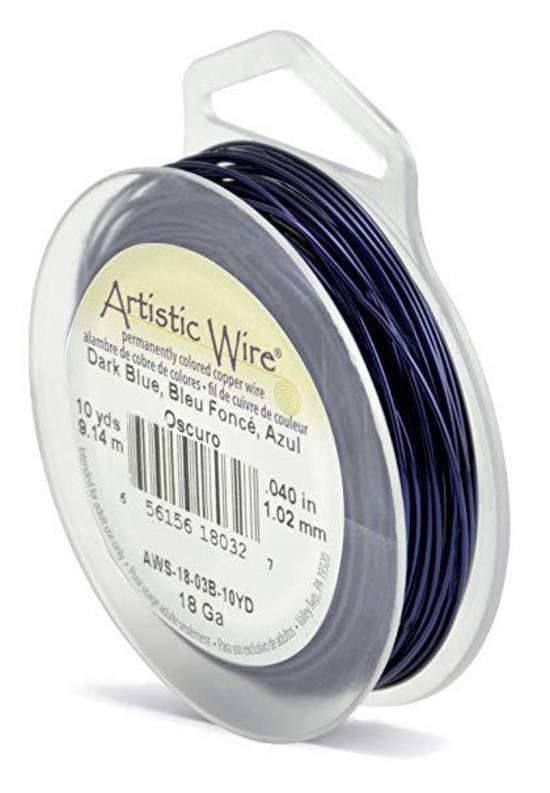 Artistic Wire: 18 gauge, Dark Blue
