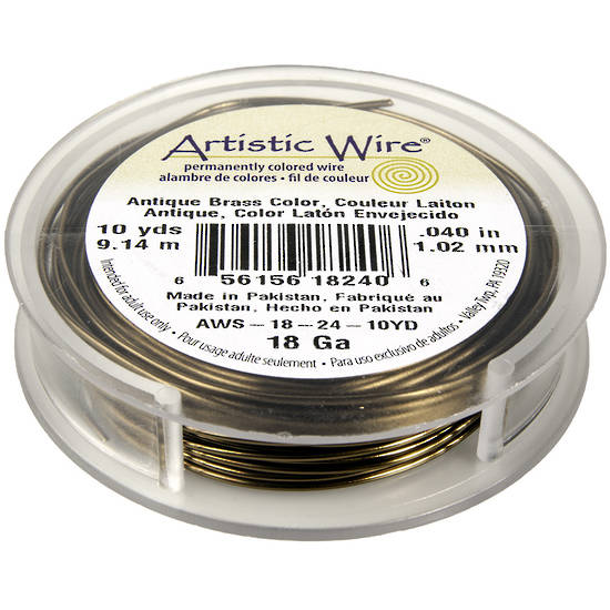Artistic Wire: 18 gauge, Antique Brass