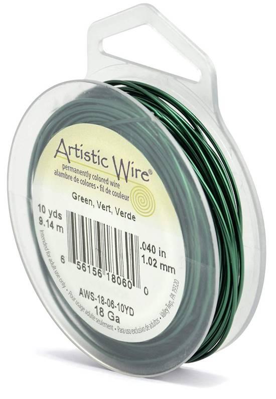 Artistic Wire: 18 gauge, Green
