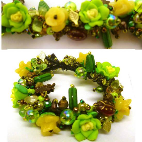 Fimo Garden Bracelet KITSET:  Spring Rain