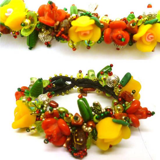 Fimo Garden Bracelet KITSET: Rose Garden