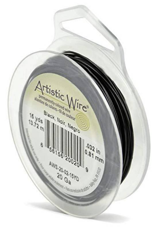 Artistic Wire: Black, 20 gauge