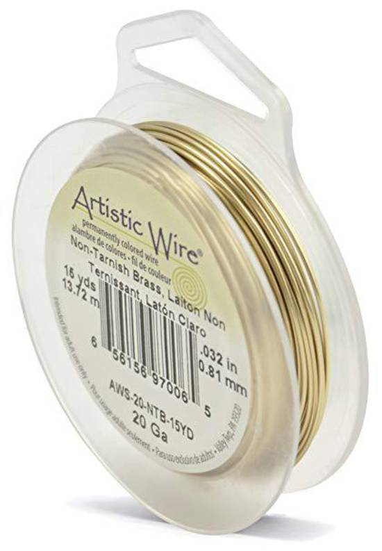 Artistic Wire, Tarnish Resistant  Brass (GOLD), 20 gauge