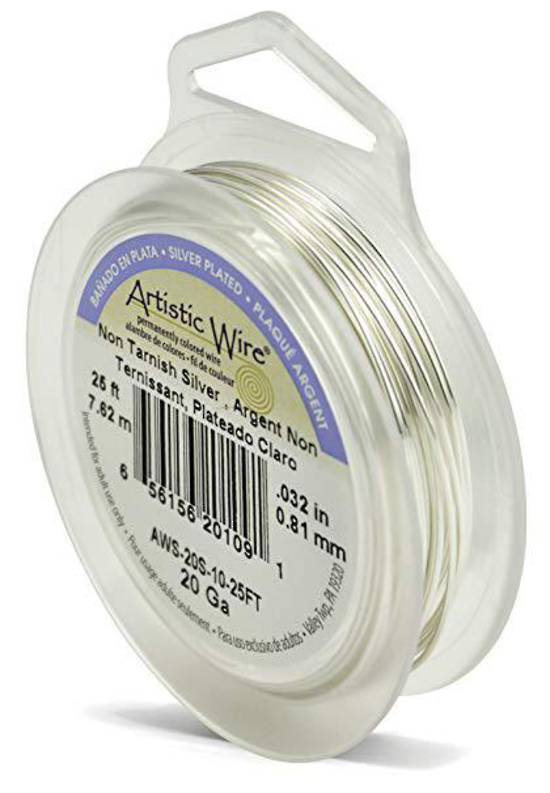 Artistic Wire, Tarnish Resistant Silver, 20 gauge