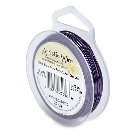 Artistic Wire: 22 gauge, Dark Blue