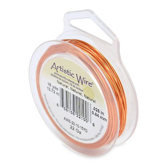 Artistic Wire: 22 gauge, Bare Copper