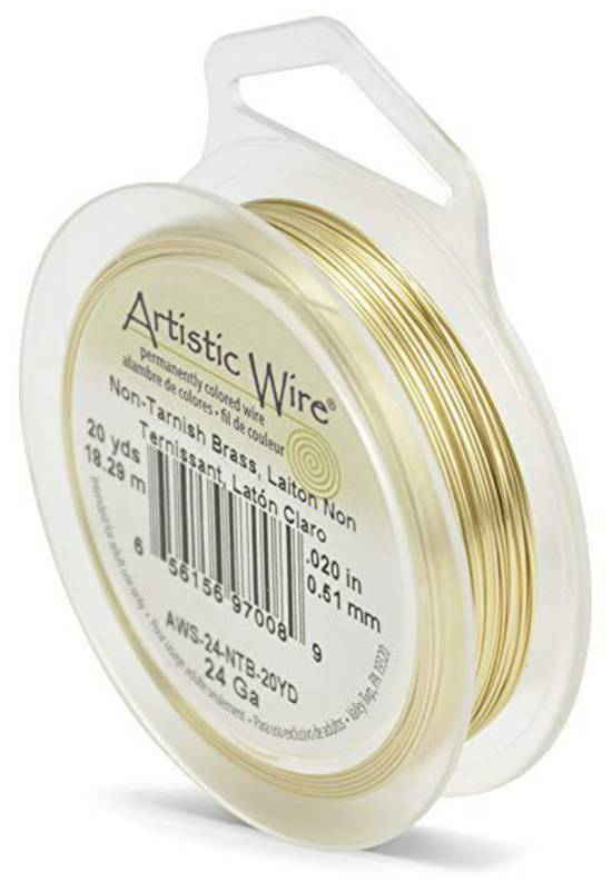 Artistic Wire: 24 gauge, Non-Tarnish Brass (GOLD)