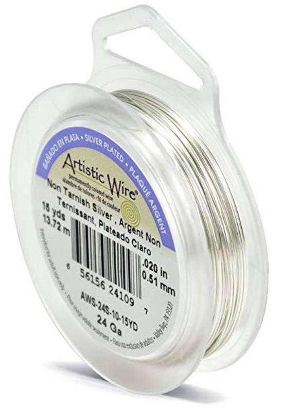 Artistic Wire: 24 gauge, Non-Tarnish Silver
