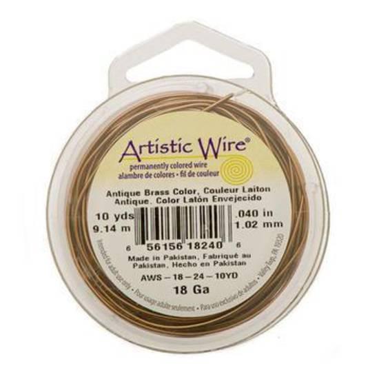 Artistic Wire: 28 gauge, Antique Brass