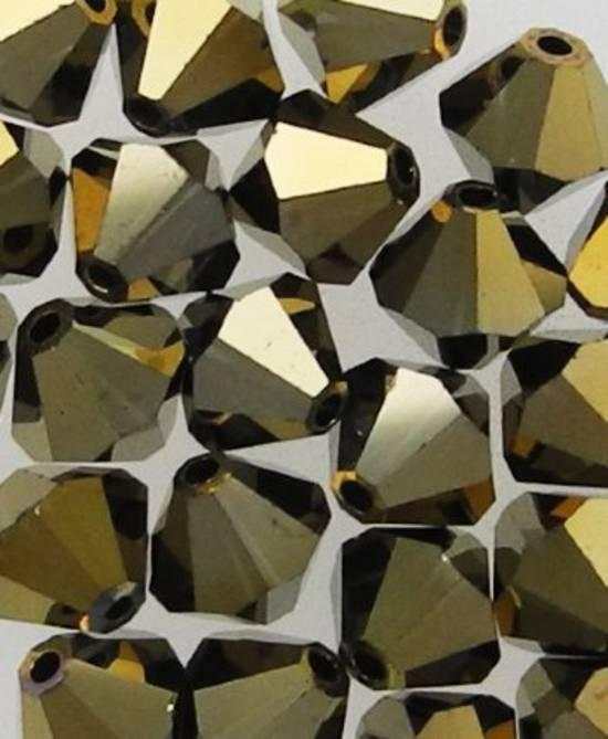 6mm Swarovski Crystal Bicone, Crystal Dorado AB