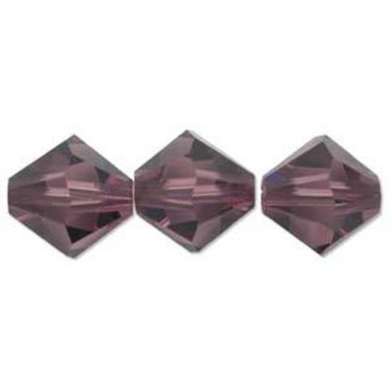6mm Swarovski Crystal Bicone, Amethyst