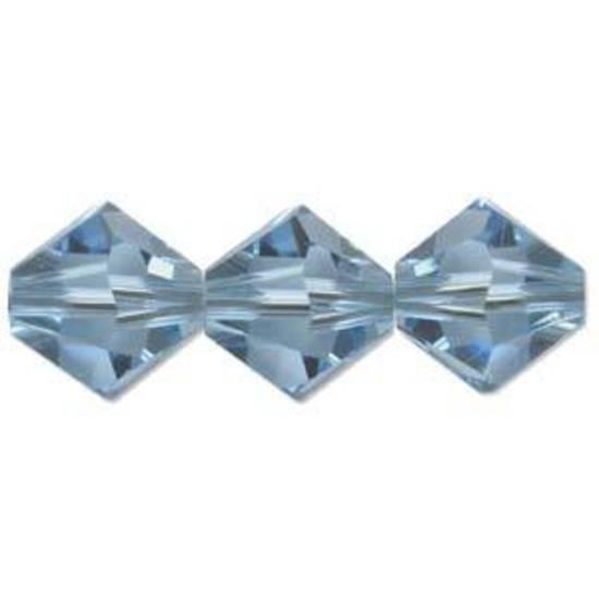 4mm Swarovski Crystal Bicone, Aquamarine