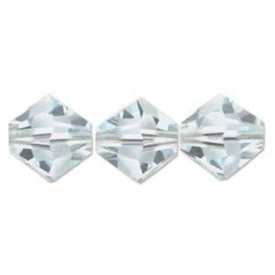 6mm Swarovski Crystal Bicone, Azore, light (very pale aqua)