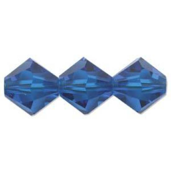 6mm Swarovski Crystal Bicone, Blue, capri