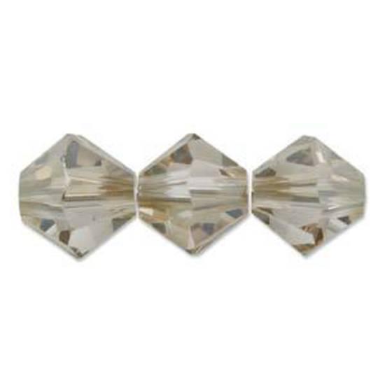 4mm Swarovski Crystal Bicone, Crystal Golden Shadow