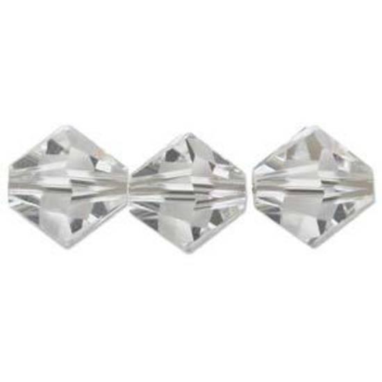 3mm Swarovski Crystal Bicone - Crystal