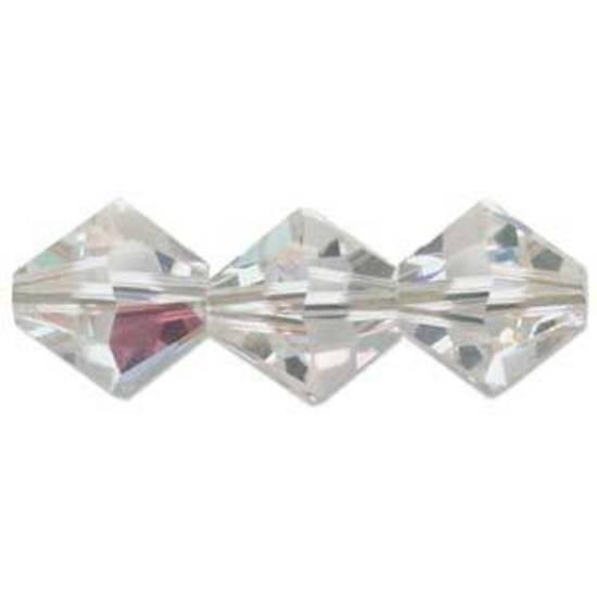 8mm  Swarovski Crystal Bicone, Crystal AB