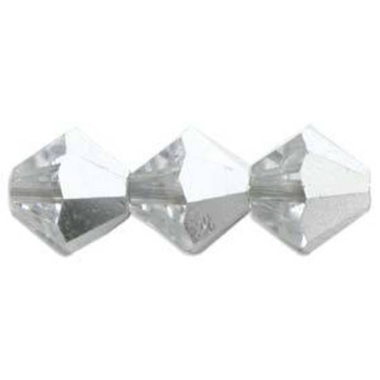 4mm Swarovski Crystal Bicone, Crystal CAL