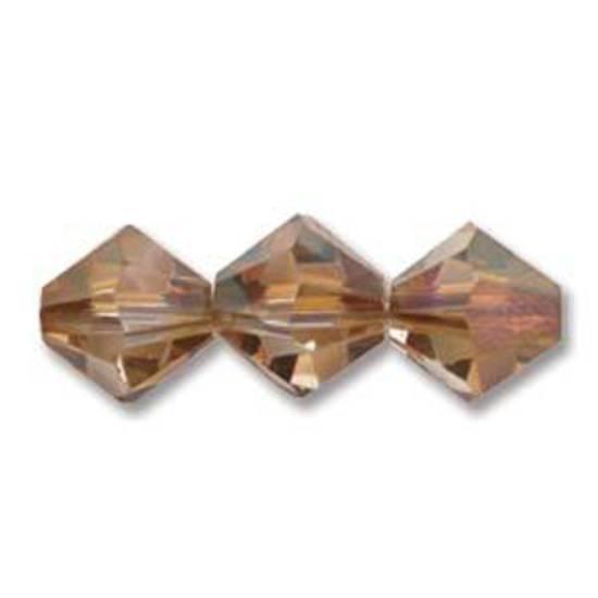 4mm Swarovski Crystal Bicone, Crystal Copper