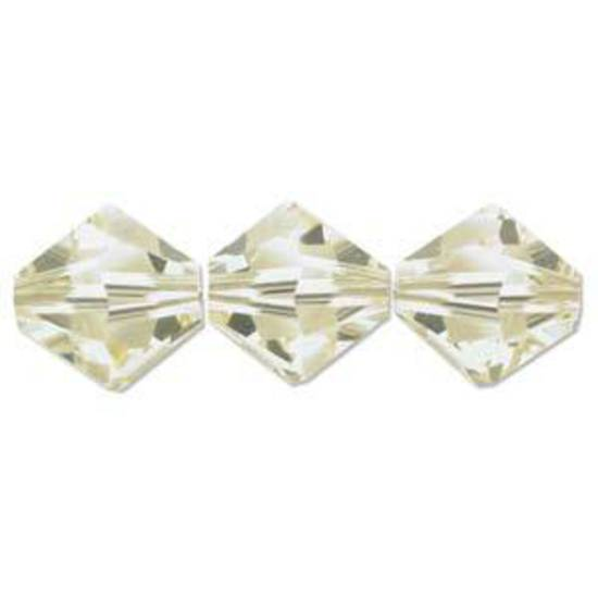 6mm Swarovski Crystal Bicone, Jonquil (pale yellow)
