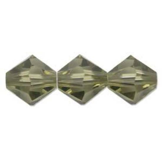 4mm Swarovski Crystal Bicone, Khaki