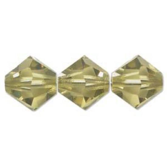 4mm Swarovski Crystal Bicone, Lime