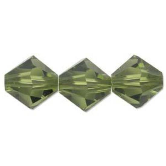 4mm Swarovski Crystal Bicone, Olivine