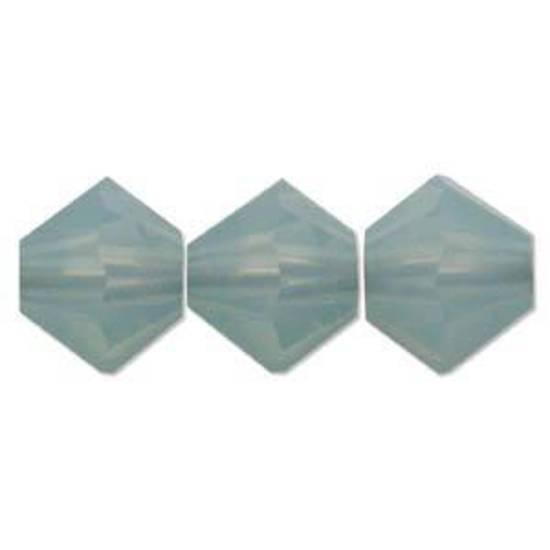 4mm Swarovski Crystal Bicone, Pacific Opal