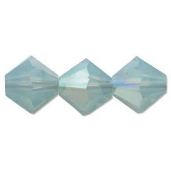 4mm Swarovski Crystal Bicone, Pacific Opal AB