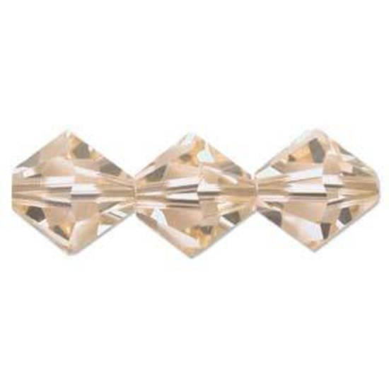 6mm Swarovski Crystal Bicone, Light Peach