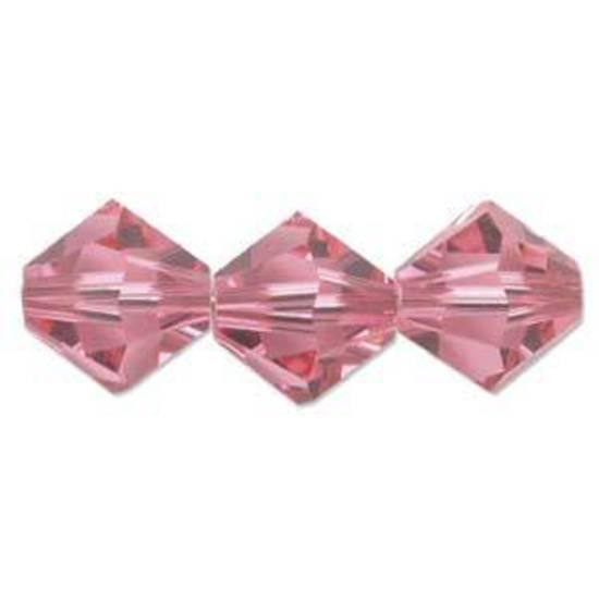 6mm Swarovski Crystal Bicone, Rose