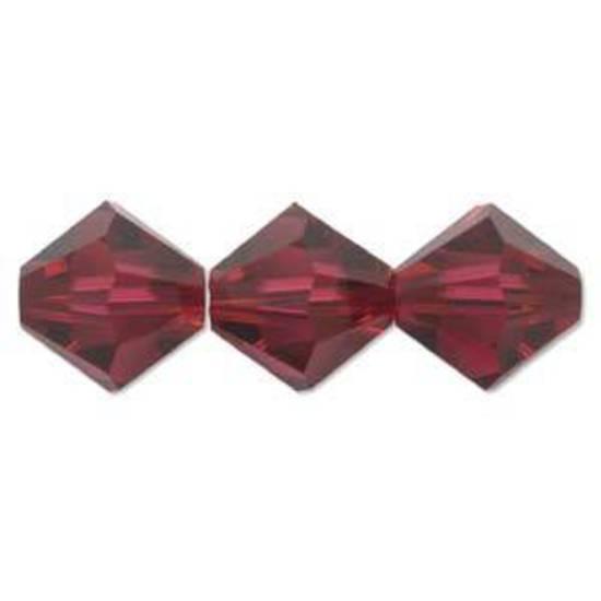 6mm Swarovski Crystal Bicone, Ruby